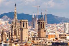 Barcelona Hoogste mening Royalty-vrije Stock Afbeelding