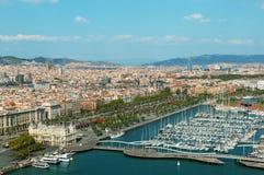 barcelona horisont Arkivbild