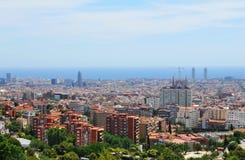 Barcelona horisont Royaltyfria Foton
