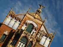 Barcelona,Hospital Sant Pau 07. Hospital de Sant Pau in Barcelona, Spain Royalty Free Stock Image