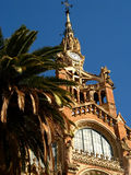 Barcelona,Hospital Sant Pau 11. Hospital de Sant Pau in Barcelona, Spain Stock Photo