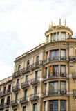Barcelona Hotel with Iron Balconies Royalty Free Stock Image
