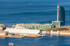 Barcelona, hotel and sea Stock Images