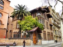 Barcelona house in the area of tibidabo Royalty Free Stock Images