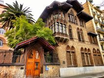 Barcelona house in the area of tibidabo Royalty Free Stock Photos
