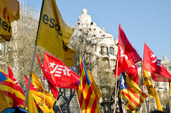Barcelona - huelga general Fotografía de archivo libre de regalías