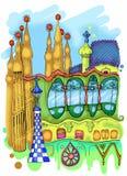 Barcelona Illustration Stock Photo