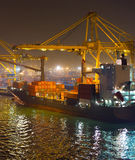 Barcelona industrial port, Spain Stock Photography