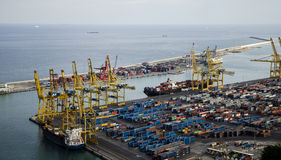 Barcelona industrial seaport Stock Photography