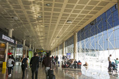 Barcelona International Airport interior. Airport if one of the Stock Photo