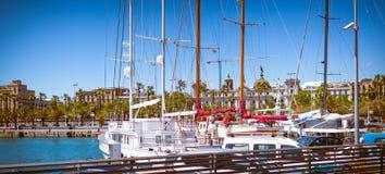 Barcelona-Jachthafen Lizenzfreies Stockfoto