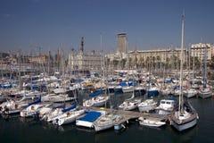 Barcelona-Jachthafen lizenzfreie stockfotos