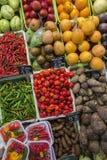 Barcelona - Jedzenie Sławny Rynek - Hiszpania Fotografia Stock