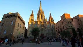 Barcelona jest kapitałowym i wielkim miastem Catalonia, zarówno jak i drugi - najwięcej ludnego zarząd miasta Hiszpania fotografia stock