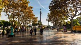 Barcelona jest kapitałowym i wielkim miastem Catalonia, zarówno jak i drugi - najwięcej ludnego zarząd miasta Hiszpania obraz stock