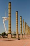 barcelona jordniner olympic stadion Fotografering för Bildbyråer