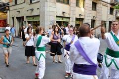 25 Barcelona-JULI: Adembenemende prestaties op 25 Juli, 2013 in Barcelona. Stock Afbeelding
