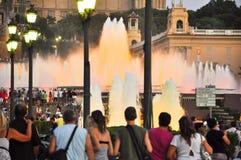 25 Barcelona-JULI: Magische Fontein op 25 Juli, 2013 in Barcelona. Stock Afbeelding