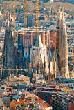 BARCELONA - JULY 10: Aerial view of the Sagrada Familia, Antoni Stock Images