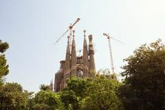 BARCELONA - JULY 29, 2016: Gaudi�s La Sagrada Familia stock photos