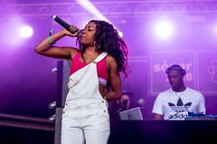 Lady Leshurr rapper, singer and producer performs in concert at Sonar Festival. BARCELONA - JUN 16: Lady Leshurr rapper, singer and producer performs in concert stock images