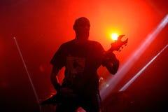 Venom hard rock metal band perform in concert at Primavera Sound 2016 Royalty Free Stock Photo
