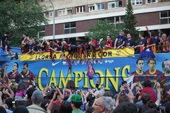 barcelona kämpar för fcligan Royaltyfri Fotografi