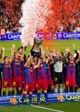 barcelona kämpar för fcligaspanjor Royaltyfri Bild
