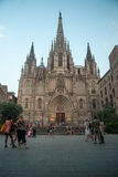 Barcelona-Kathedrale Stockfoto