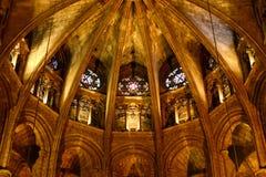 Barcelona-Kathedrale, alte Stadt Barcelona, Spanien Stockfoto