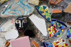 Barcelona keramisk vägg Arkivbilder