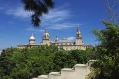 barcelona kloster Arkivbild