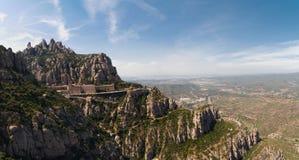 barcelona kloster montserrat nära spain Royaltyfria Bilder