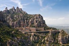 barcelona kloster montserrat nära spain Royaltyfri Fotografi