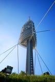barcelona kommunikationstorn Fotografering för Bildbyråer