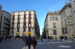 Barcelona kwadrat Zdjęcia Stock