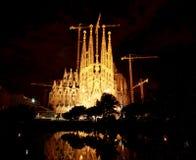 barcelona kyrklig familia sagrada Royaltyfri Bild
