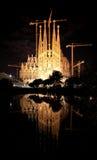 barcelona kyrklig familia sagrada Arkivbilder