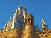 barcelona kyrklig spain tibidabo Royaltyfri Bild