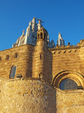 barcelona kyrklig spain tibidabo Arkivfoton