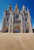 barcelona kyrklig tibidabo Arkivfoton