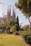 barcelona kyrkligt familiasagrada tempel Arkivbild