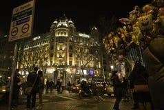 Barcelona la nuit Royalty Free Stock Photo