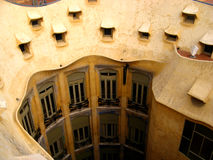 Barcelona, La Pedrera 13. The famous La Pedrera in Barcelona, Spain Stock Photo