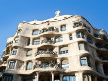 Barcelona La Pedrera by Gaudi architect Stock Image
