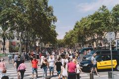 Barcelona, La Rambla stock image