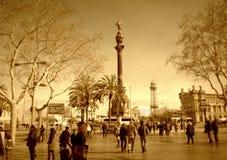 Barcelona,La Rambla street Stock Photography