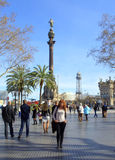Barcelona,La Rambla street Stock Photo