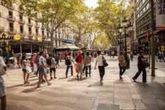Barcelona- La Rambla Stock Photos