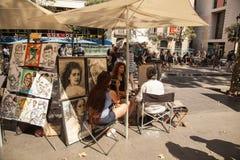 Barcelona- La Rambla Royalty Free Stock Photos
